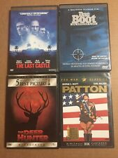 War Movie Dvd Collection Lot Of 4 The Deer Hunter Patton Last Castle Das Boot
