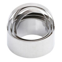 3Pcs Stainless Steel Round Cookie Cutter Circle Biscuit Pastry Mold Baking DMF