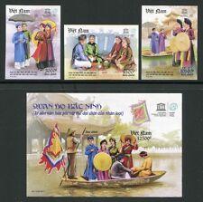Vietnam 2011 UNESCO Lieder Folklore Trachten 3568-70 Block 156 U Imperf MNH