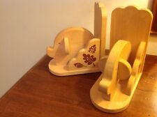 Mid Century Scandi Style Wooden Book Ends  Retro/Vintage