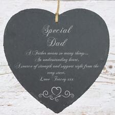 Personalised Dad Gift Slate Plaque Heart Symbol SLA210-7