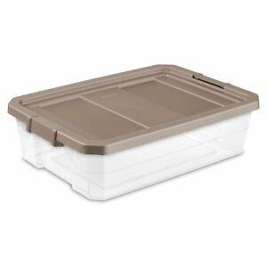 Sterilite, 40 Qt./38 L Stacker Box, Taupe Splash