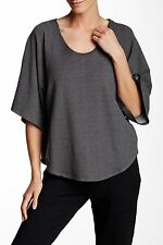 NWT- Soft Joie Kennice Kimono Sleeve Sweatshirt, Charcoal Grey - Size Small