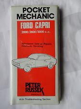 FORD CAPRI MK I 2000 2600 3000 GT WORKSHOP MANUAL PETER RUSSEK NEW POCKET MECHAN