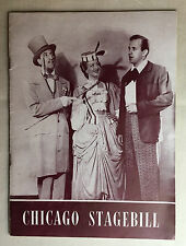 Chicago Stagebill Song Of Norway 1947 Lawrence Brooks, Sam Shubert Theatre play