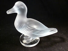 LALIQUE CRYSTAL LARGE HEAVY DUCK GEDEON CANARD FRANCE #11659