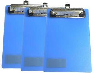 3Pcs Mini Clipboard A6 Clip Boards Plastic Clipboard Memo Size Low Profile Clip