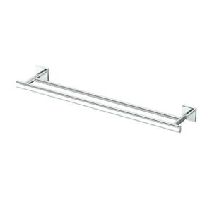 Gatco Parallel 24-in Double Chrome Wall Mount Double Towel Bar 4504
