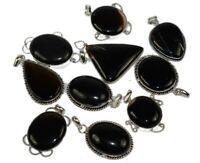 Obsidian Gemstone 925 sterling silver overlay Wholesale lot pendants 20pcs