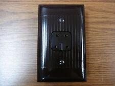 Vintage Uniline Brown Telephone Jack 4 Prong Cover Plate Sierra Western Electric