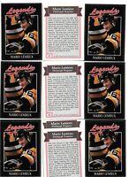 (10) 1991 Legends #46 Mario Lemieux Hockey Card Lot Pittsburgh Penguins