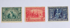 TRAVELSTAMPS: 1907US Stamp Scott#  328-330 Jameston Issue , Mint Og Hinged