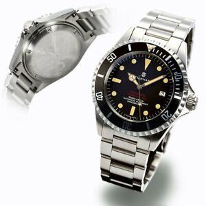 Steinhart Ocean One Vintage RED Automatic Diver - Swiss Watch 42mm