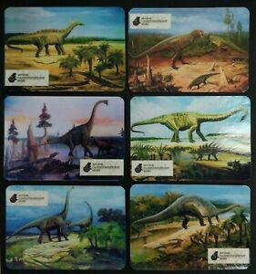 6pcs Dinosaur Prehistoric animals Paleontological Museum Paleoart Russian card 2