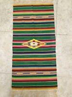 Southwest Vintage Native American Indian Weaving Blanket Rug Cover Textiles