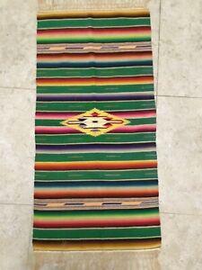 Southwest Vintage Native American Rug Latino Indian Shawl Colorful Textiles