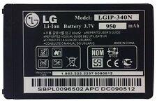 LG Xenon GR500 Rumor 2 LX265 Tritan AX840 Standard Battery LGIP-340N 950mAh OEM