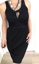DAVID LAWRENCE WOMENS DRESS BLACK Viscose Polyester Tailored Beads Sz S
