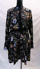 Asos Women's Liquorish Floral Skater Dress W/ Tiered Skirt CK6 Multi UK:14 US:10