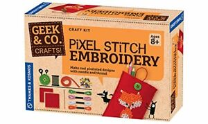 Geek & Co. Craft Pixel Stitch Embroidery Kit