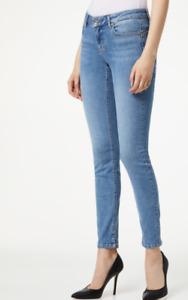 LIU-JO jeans botton up tinta unita con applicazioni 100% originale donna