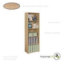 Très belle étagère simple avec 5 niveaux Sonoma chêne pour le rangement