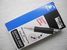 12pcs Pilot retractable Super Grip 0.7mm ball point pen Black(Smoothest)