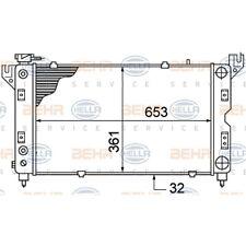 ORIGINAL HELLA Kühler Motorkühlung Chrysler 8MK376766-521