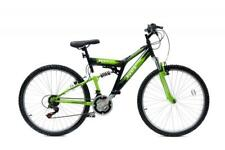 "COMPLETO di DUAL Basis 2 SOSPENSIONE MTB da uomo Unisex Mountain Bike 26"" RUOTE 21Sp Verde"