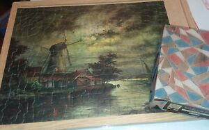 TUCO 2 jigsaw Puzzles Moonlit Waters  Ottenfeld Enchanting Bouquet both COMPLETE