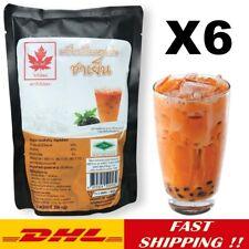 6X Thai Tea Flavored Drink Mix Instant Powder Bubbles/Boba 300g Dessert Smoothie