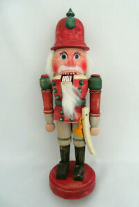 """Christmas Carved Wood Soldier Nutcracker ~ 10"""" Tall"""
