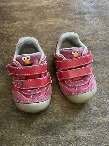 Stride Rite Elmo Sesame Street Toddler Girls Red Sneakers Leather sz 5M