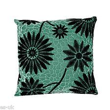 New Velvety Sun Flower Cushion Covers 17'' x 17'' Brown Grey Purple Pink Blue