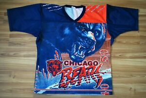 CHICAGO BEARS THROWBACK JERSEY VINTAGE CCM ALL OVER PRINT SIZE L/XL MADE IN USA