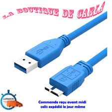 CABLE CORDON MICRO USB 3.0 1M NOIR DISQUE DUR EXTERNE VERBATIM SAMSUNG S5 NOTE