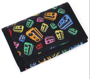 Retro 1980's Ghetto Blaster Tape Cassette Deck Boom Box wallet
