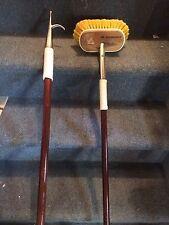 Combo! Boat Pole & Brush Handle Vintage Marine Classic Style