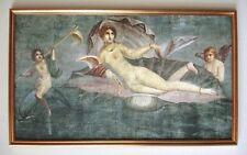Pompeji Geburt der Venus aus der Muschel Fresko XL-Faksimile 17 im Goldrahmen