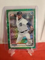 2020 Bowman Chrome Isaac Paredes Refractor GREEN MOJO #BCP-224 Parallel /99 🔥