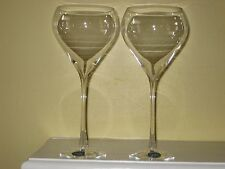 "* Set of 2 * LENOX CRYSTAL SILHOUETTE CLEAR -- 8-3/4"" WATER GOBLETS GLASSES NEW"