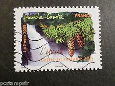 FRANCE 2009, timbre AUTOADHESIF, REGION FRANCHE-COMTE , FLORE, EPICEA, oblitéré