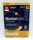 NORTON 360 PREMIUM INTERNET SECURITY 2021 (10 DEVICE/1 YEAR) *NEW in RETAIL BOX