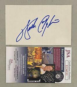 Walter Payton Signed 3x5 Cut Autographed AUTO JSA COA Chicago Bears HOF