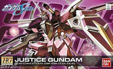 Bandai gundam HG 1/144 HG SEED R14 ZGMF-X09A Justice Gundam Model Kit 175304