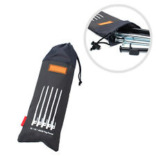 Black Enhanced Outdoor Camping Tent Pegs Nails Stake Storage Drawstring Bag