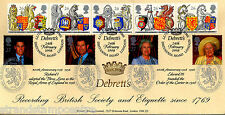 1998 Queen's Beasts - Bradbury Debrett's Official - Doubled 2000 Queen Mother