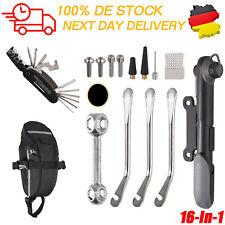 Flickzeug Fahrrad Werkzeug Reparatur Set Bike Reifenreparatur Kit | Mit Tasche |