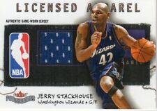 2003-04 Fleer Patchworks Licensed Apparel Basketball Card #Js Jerry Stackhouse