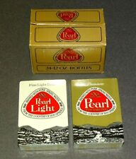 Vintage Pearl Beer Playing Cards Sealed Double Decks in Box